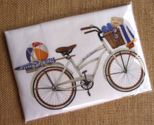 Flour Sack Towel Mary Lake Thompson Design - White Bike, Beach Umbrella, Ball
