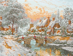 Anchor ~ Maia ~ Counted Cross Stitch Kit ~ Cobblestone Christmas ~ 56780001062