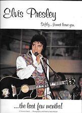 Elvis Presley Soflty I Must Leave You Pictorial Paperback Book 1976-77
