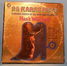 HANK WILLIAMS 24 KARAT HITS VINYL 2XLP 1970 ORIGINAL PRESS GREAT COND! VG+/VG+!!
