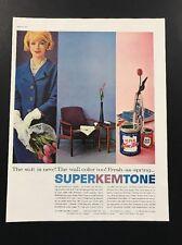 Superkemtone | 1961 Vintage Print Ad | Large Ad 60's Sherwin Williams Paint