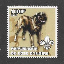 Dog Art Body Postage Stamp BULLMASTIFF NEO NEAPOLITAN MASTIFF Cote D'Ivoire MNH