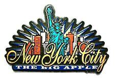 New York City The Big Apple Sunburst Fridge Magnet