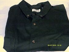 JEANS WEAR *Trent* Men's  Green Cotton Long Sleeve Shirt RN52469 Button Front