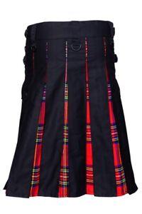 Kilt Schottenrock Schwarz Rot aus Tarten & Baumwolle