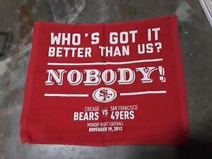 49ers Rally Towel KAEPERNICK Coming out party SGA 11/19/12 San Francisco v Bears
