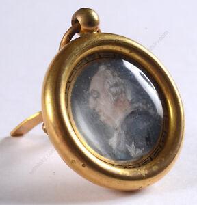 """Profile portrait of King Louis XVI (period of French Revolution)"", miniature"