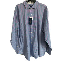 Polo Ralph Lauren Mens Button Down Shirt Big 2X 2XB L/S  Blue Cotton Classic Fit