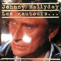 VINYLE / 45t / SINGLE : JOHNNY HALLYDAY - LES VAUTOURS - NOUVELLE VERSION