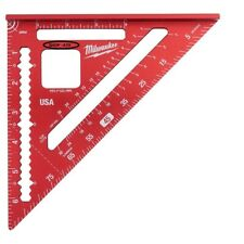 Milwaukee 7 in. Rafter Square Aluminum Metric Measuring Tool Layout 1 in. Cutout
