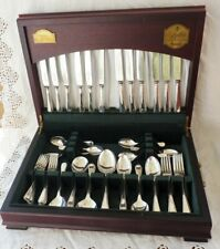 Silver plated canteen of cutlery George Butler Sheffield 44pc Heirloom ~ HARRODS