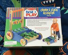 Melissa and Doug - Learn to Walk - Push Toy - Wooden Walker - Chomp & Clack