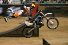 Travis Pastrana Motocross Suzuki Rider Color 8x10 Photo #1