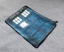 Blue Police Call Box Makeup Bag Zipper Pouch Geeky