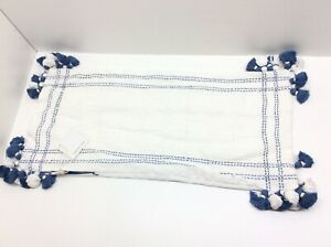 Serena & Lily Tarifa Pillow 14 x 30 French Blue
