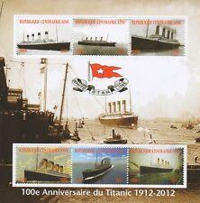100th aniversario de Titanic Ocean Liner desastre 2012 estampillada sin montar o nunca montada SELLO Sheetlet