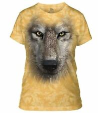 The Mountain Women's Wolf Face Apparel Yellow Size M