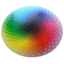 Round rainbow relaxing puzzle 1000 pieces jigsaw for children and adults 50*70cm