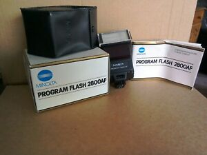 Konica Minolta 2800AF Shoe Mount Flash - Boxed - Very Good Condition - Free Post