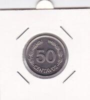 50 Centavos Ecuador 1963 prima Erhaltung