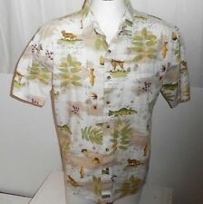 G.P.S.GLOBAL TRACKING MEN'S VERY COLORFUL S/S SHIRT BUTTON-FRONT 100% COTTON- L