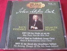 DIE BACH KANTATE VOL 31 - BWV 158, 67, 42 - HELMUTH RILLING (CD 1990 GERMANY)