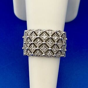 Silpada Retired Sterling Silver 925 Cubic Zirconia CZ Tapered Band Ring