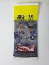 2018 Topps Stadium Club Baseball MLB Trading Cards 12ct Retail - 1 Pack