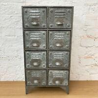 8 Drawers Vintage Retro Industrial Locker Room Storage Rack Cabinet Chest Unit