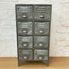 8 Drawers Vintage Retro Industrial Locker Room Storage Rack Cabinet Chest Unit
