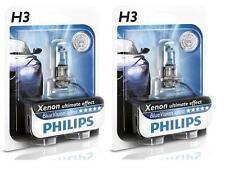2 AMPOULES ANTIBROUILLARDS H3 PHILIPS BLUE ULTRA XENON 55W VW TRANSPORTER 3 4