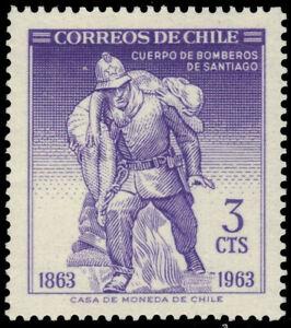 CHILE 344 - Santiago Fire Brigade Centenary (pa75820)