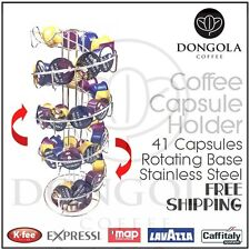 Spiral Rotating Coffee Capsule Pod Holder Stand Stainless Steel suit Caffitaly