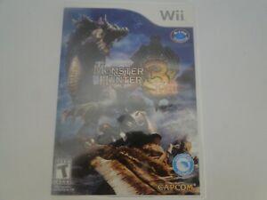Monster Hunter 3 Tri (Nintendo Wii, 2009)  Tested! Works!