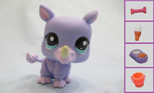 Littlest Pet Shop Rhino 1908 and Free Accessory Authentic Lps