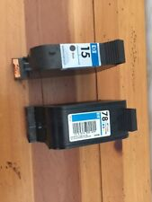 Genuine Used  HP 78 and HP 15 Ink Cartridges