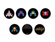 Lot Pack Badge Button Ø25mm Galaga Jeu Vidéo Arcade Retro Game