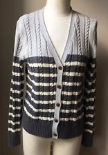 Tommy Hilfinger Gray Womens Sweater Large Size Cable Knit  H 41
