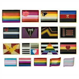LGBTQ PRIDE FLAG PIN Gay Lesbian Bisexual Trans LGBT Lapel Hat Tack Enamel Badge