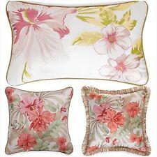J Queen Aruba Decorative Toss Pillow Completer Set Tropical Floral Orchid Ivory