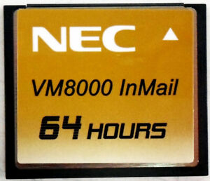 NEC Univerge VM8000 InMail 64 HOUR 670966 V2.40G (G) 2014 Compact Flash Card