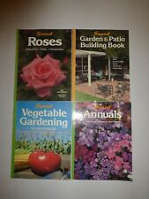 4 Lot Sunset Books, Vegetable Gardening,Garden & Patio,Annuals,Roses, Pb