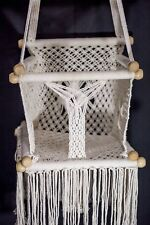 Baby swing chair Macramé, 100% natural cotton. Free Shipping 3-5 days to Usa