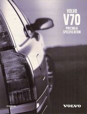 Volvo V70 Specification 2000-01 UK Market Brochure 2.4 140 170 2.4T T5 2.5D S SE