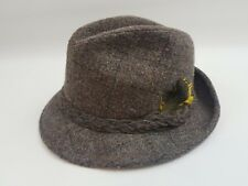 Custom Made Bee Brand Wool Fedora Hat Vintage Retro Unique Classy Made in Usa