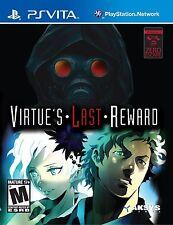 Zero Escape: Virtues Last Reward [PlayStation Vita PSV] New