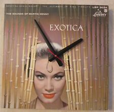 MARTIN DENNY-EXOTICA- ALBUM CLOCK!***MAKES A GREAT GIFT!**FREE SHIPPING!
