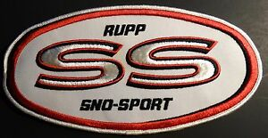 """VERY RARE VINTAGE RUPP SNOWMOBILE PATCH ABOUT 10"""" X 5"""" SELDOM SEEN  (649)"""