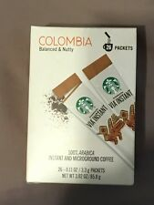 Starbucks Via Instant Coffee Columbia 104 packets.