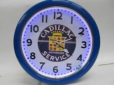 "16"" NEON CADILLAC AUTHORIZED SERVICE CLOCK"